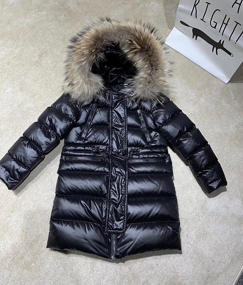 Moncler long fur coat
