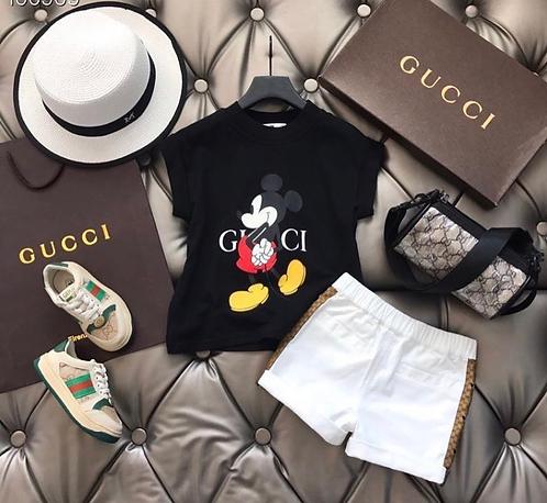 White Mickey short