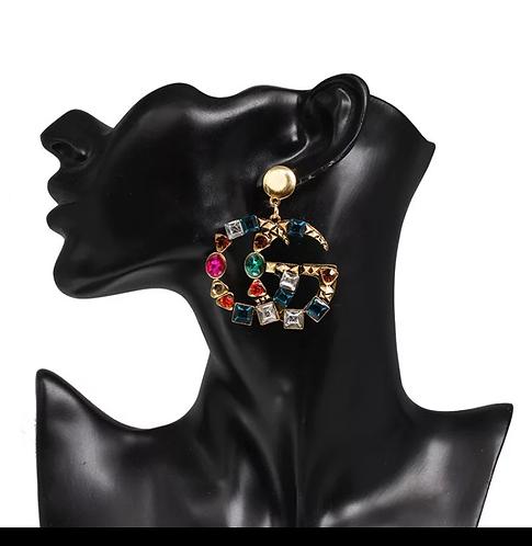 GG color earrings