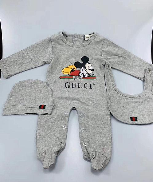 3 pieces Mickey grey set