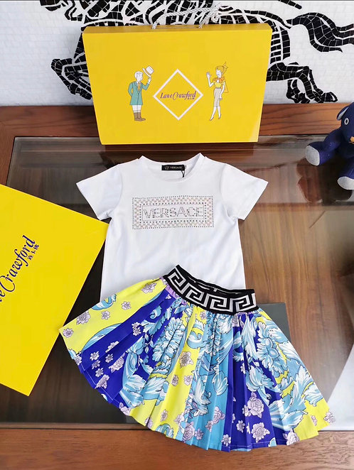 Versace two piece skirt