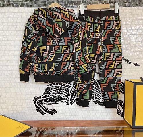 Multi-color FF hoodie set