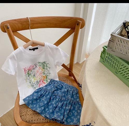 Jixsaw shirt and skirt set