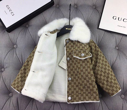 GG Removable fur collar Coat