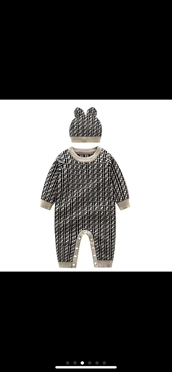 FF infant rabbit hat and romper