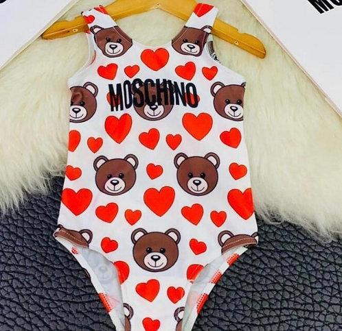 Heart swim suit