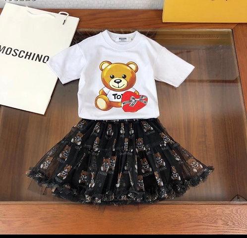 Printed skirt 2 piece set