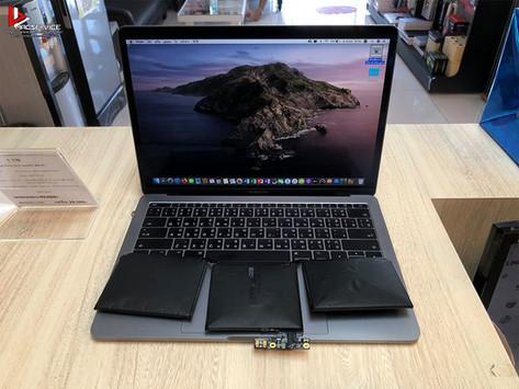 Macbook Pro 13 นิ้ว ปี 2016 แบตเตอรี่เสื่อม หมดเร็ว แบตเตอรี่บวม