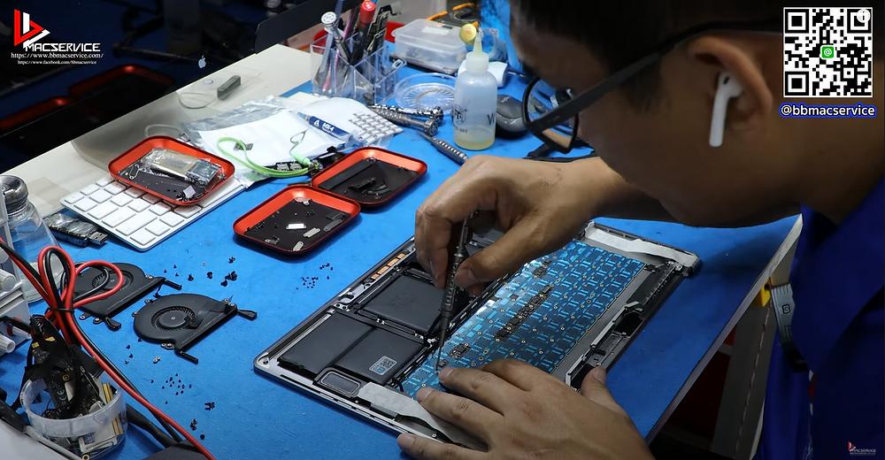 เปลี่ยนคีบอร์ด Macbook pro A1707