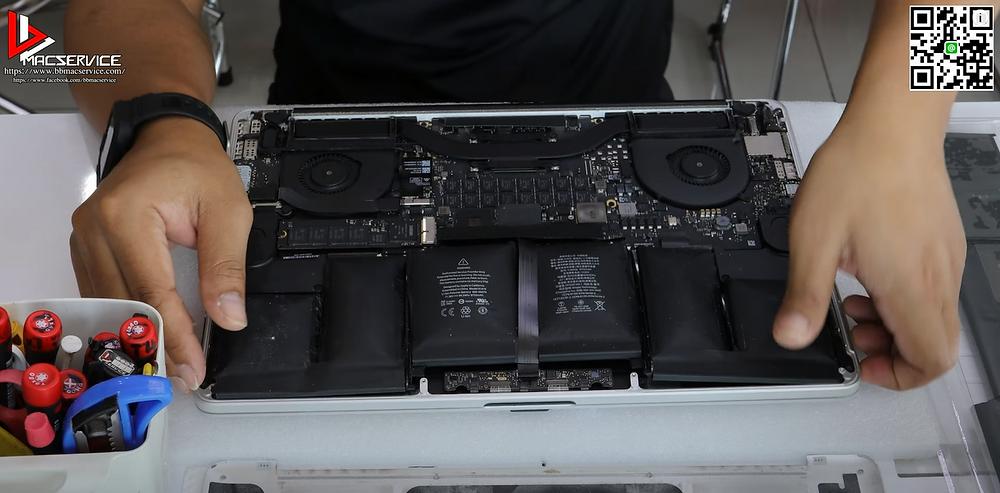 Macbook pro แบตเตอรี่บวม