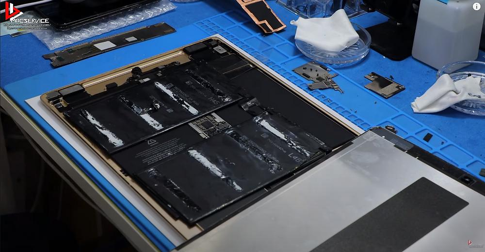 แบตเตอรี่ iPad Pro ที่เกิดปัญหา