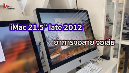 """iMac 21.5"""" late 2012 อาการจอลาย จอเสีย"""