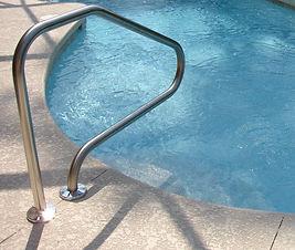 The One Pool entrance rail