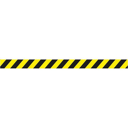 Bandes de sécurité sol jaune et noir