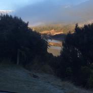 Morning mist on the dam