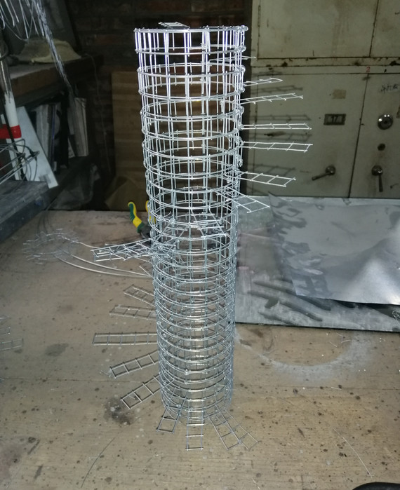 Abstract Spiral Sculpture