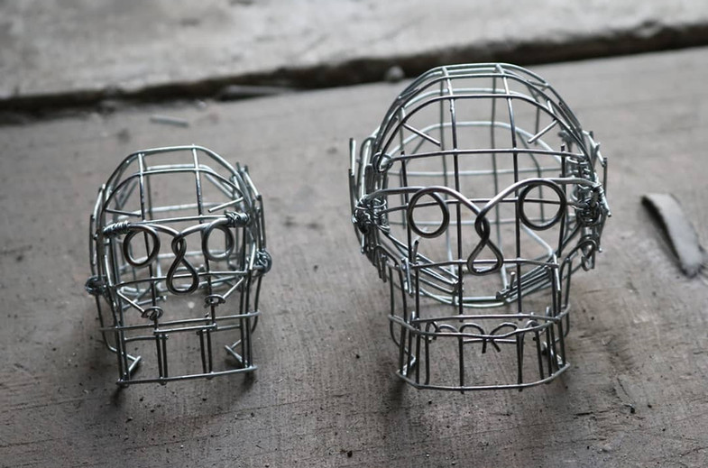Large Wire Skull