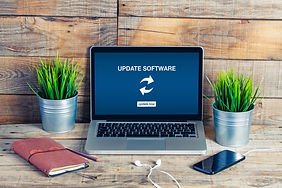 Update software notification in a laptop