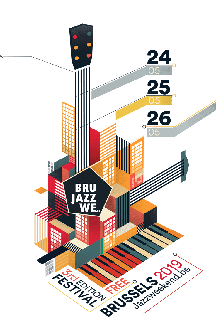 Poster Brussels Jazz Weekend 2019