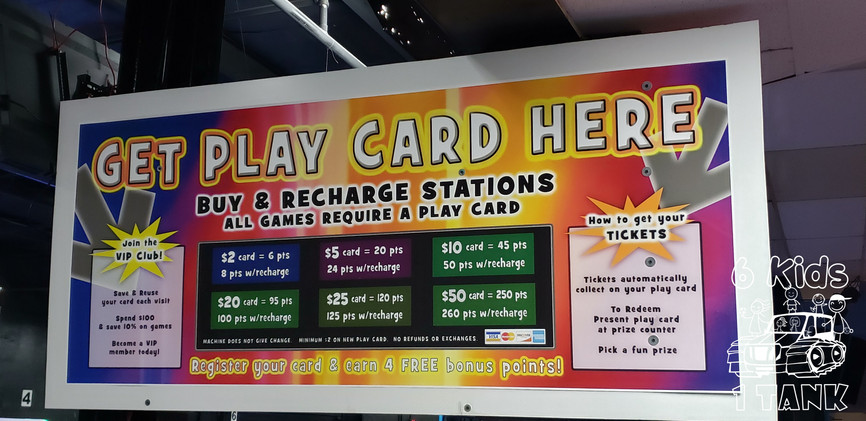 Arcade Game Card Station