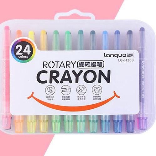 Crayones Rotativos 24 Colores