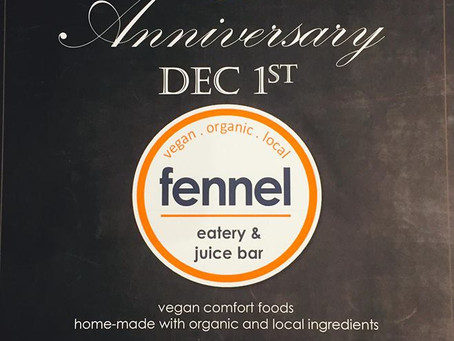Fennel Eatery turns one year old!