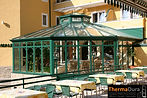 Commercial conservatory designs available. Spaa or restaurant in a conservatory.