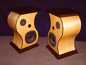 Wenge/Canadian Maple speakers