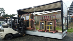 Forklift and 3.5 to covered trailer