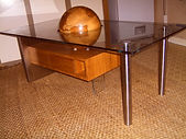 Table Rimu/stainless steel