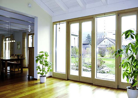 Wooden French doors are ideal for a sunroom, conservatory or orangery