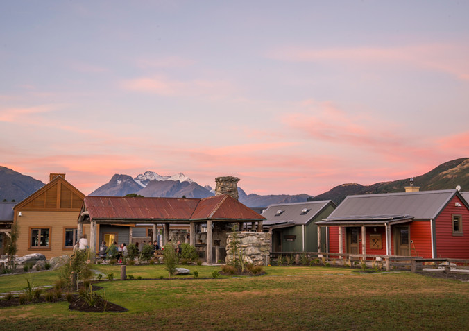 Camp Glenorchy at dusk