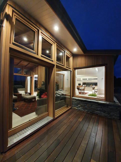 lift & slide door in conservatory