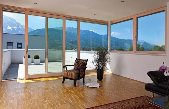 ThermaDura timber sliding doors are double glazed. Doors for conservatories
