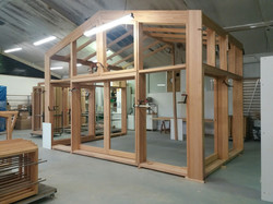 Pre assembly of conservatories in factory