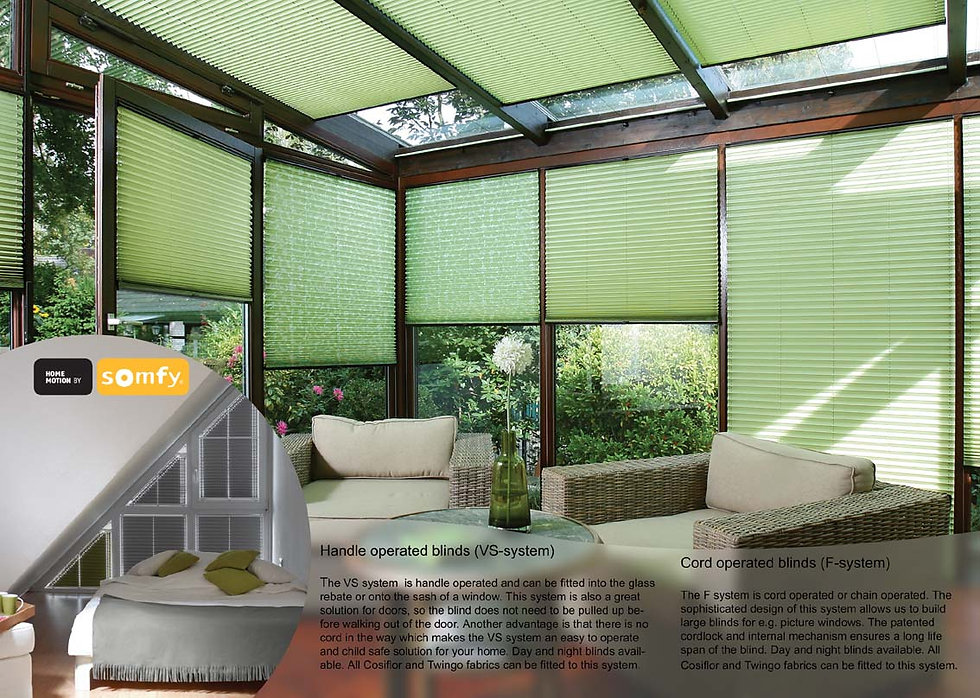 NZ made honeycomb blinds for conservatories.