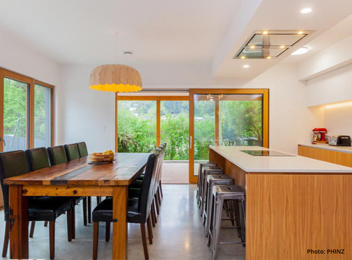 PHINZ Christchurch Passive House Plus Dining Kitchen with Thermadura doors.jpg