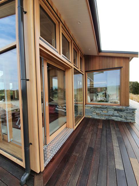 Lift and slide door in conservatory