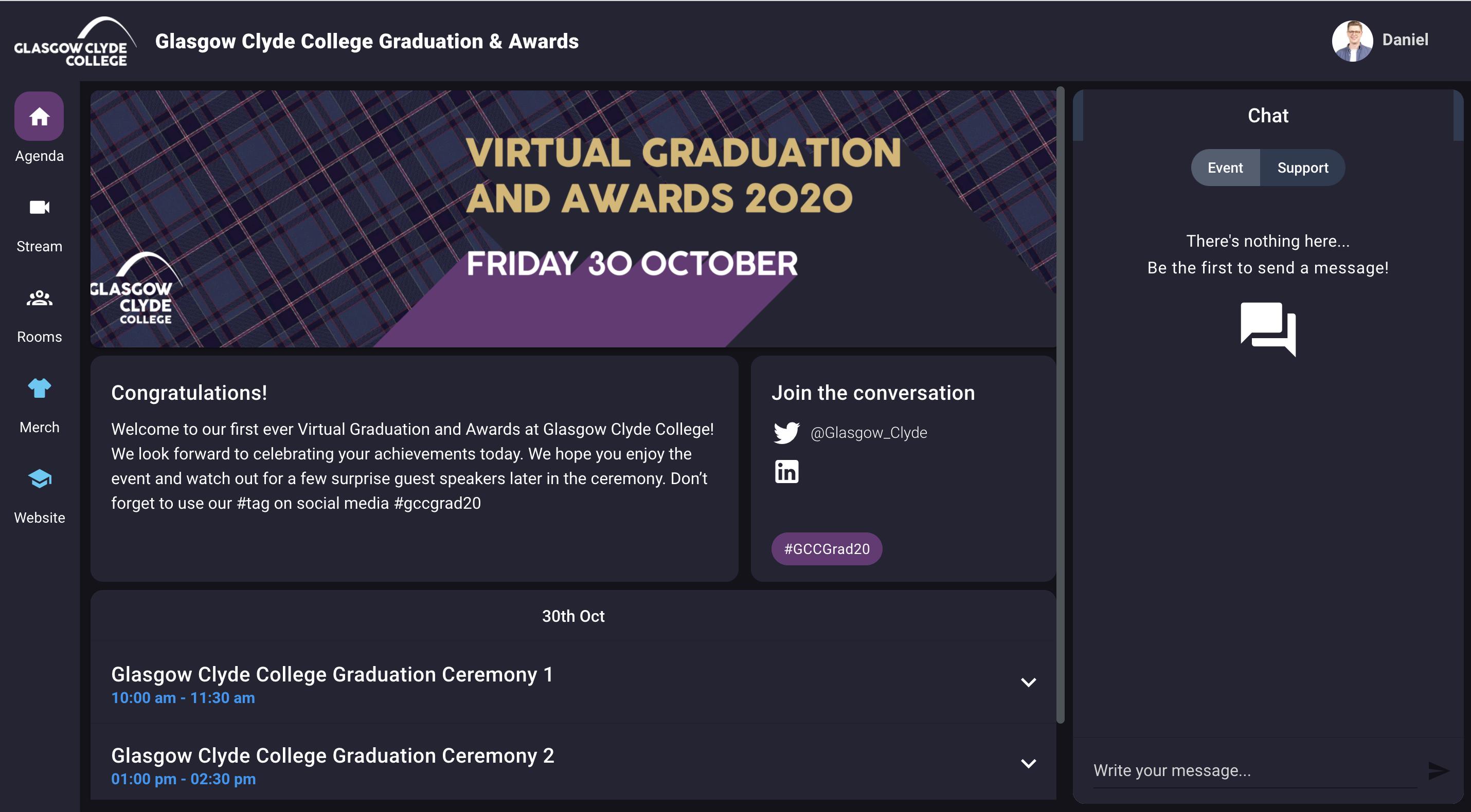 GCC Grad Agenda Page