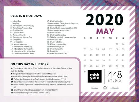 May Content Idea Calendar