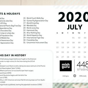July Content Inspiration Calendar