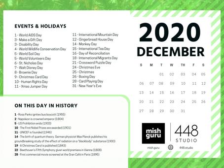 December Content Inspiration Calendar