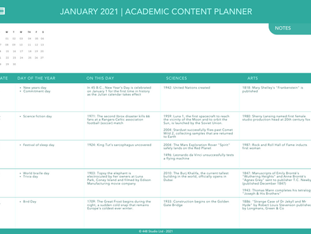 Say hello to 2021 with a new content planner