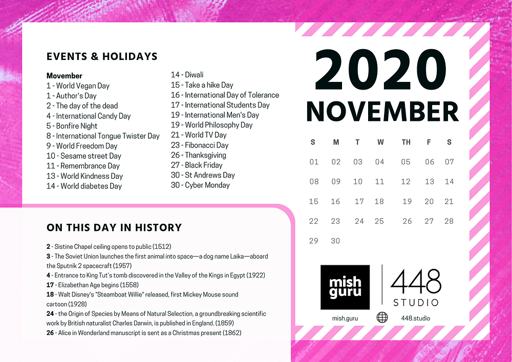 November content calendar