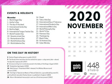 November Content Inspiration Calendar
