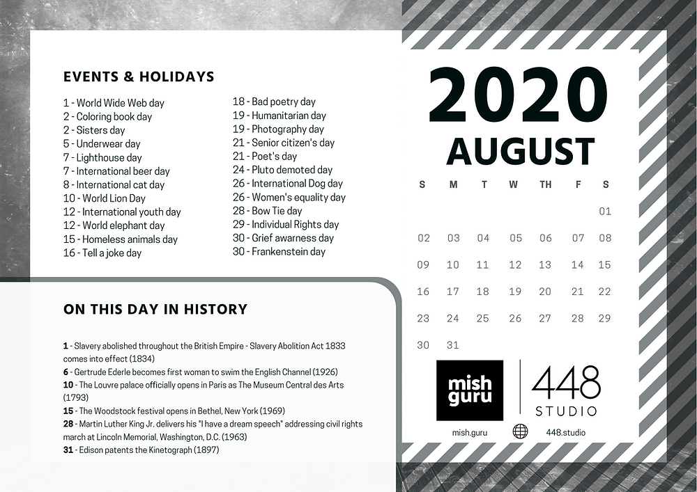July content calendar
