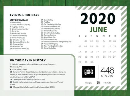 June Content Inspiration Calendar