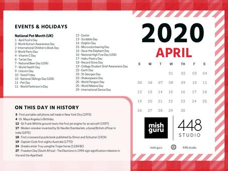 Content Idea Calendar - April