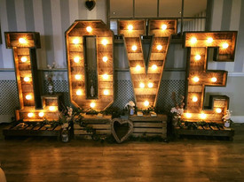 Rustic LOVE Letters