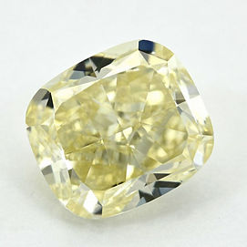 Y Z Yellow Cape colour Cushion Cut Diamond